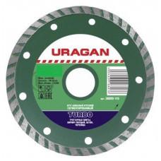 Круг отрезной алмазный сегментированный 115 х 22,2 мм URAGAN, 36693-115