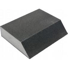 Губка шлифовальная Р80 ЗУБР МАСТЕР четырехсторонняя угловая, 100х68х42х26 мм, 35613-080