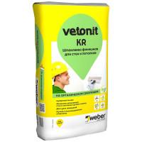 Шпатлевка финишная Ветонит KR (Vetonit KR) белый (20 кг)