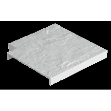 Накладка для бордюра угловая Docke, белая