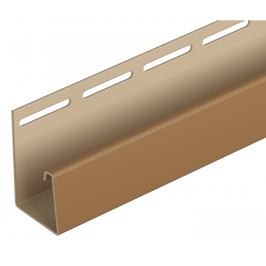 J-профиль фасадный, каштановый