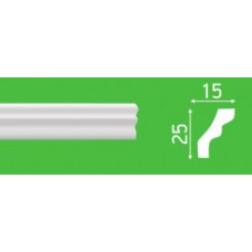 Плинтус потолочный LP-S1 15*25*2000 мм