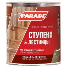 Лак для ступеней лестниц алкидно-уретановый PARADE L15 Ступени & Лестницы, Матовый 2,5 л