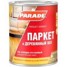 Лак паркетный алкидно-уретановый PARADE L10 Паркет & Деревянный пол, Полуматовый 0,75 л