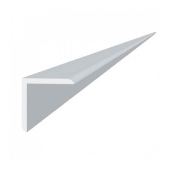 Уголок пластиковый 15х15 мм 2.7м ПВХ Белый