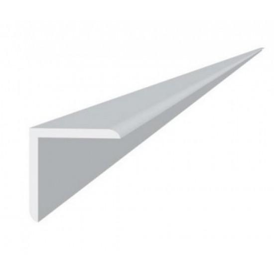 Уголок пластиковый 50х50 мм 2,7м ПВХ Белый