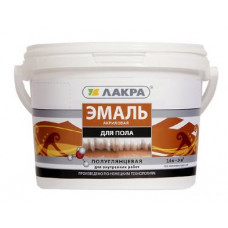 Эмаль акриловая для пола Лакра Жёлто-коричневая 2,4 кг