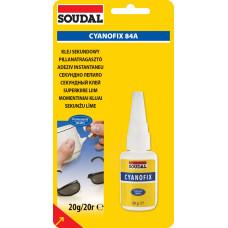 Секундный клей Soudal (Соудал) 84A Cyanofix (Цианофикс) (20гр)