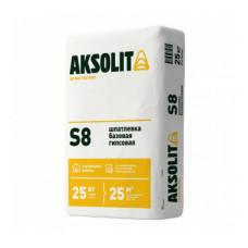 Шпаклевка Аксолит S8 базовая гипсовая 25 кг