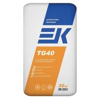 Штукатурка ЕК Кемикал Гипсовая TG40, 30 кг белый