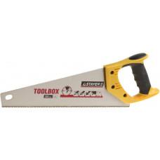 Ножовка многоцелевая (пила) STAYER TOOLBOX 350 мм, 11 TPI, мелкий прямой закаленный зуб, точный рез,