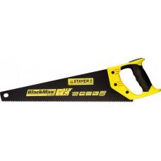 Ножовка универсальная (пила) STAYER BlackMAX 400 мм, 7TPI, тефлон покрытие, рез вдоль и поперек воло