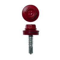 Саморез кровельный 4,8х29 мм RAL 3005 Красное вино