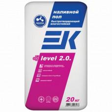 ЕК LEVEL 2.0. Быстротвердеющий влагостойкий наливной пол 5-80 мм 20 кг