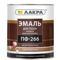 Эмаль для пола ПФ-266 Лакра Красно-коричневая 3 кг