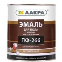 Эмаль для пола ПФ-266 Лакра Золотисто-коричневая 3 кг