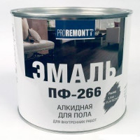 Эмаль для пола ПФ-266 PROREMONTT Жёлто-коричневая 2,7 кг