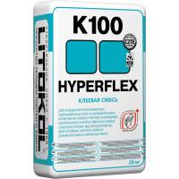 Цементный клей HYPERFLEX K100 20кг серый
