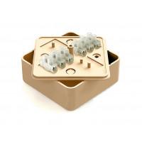 Коробка распаячная ОП 75х75х28мм СОСНА с контактной группой 6 кл. Greenel GE41216-11
