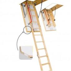 Деревянные чердачные лестницы FAKRO LTK termo 70х120 280см