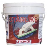 Затирка Litokol Litochrom Starlike, абсолютно белая С.470 (5 кг)