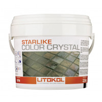 Затирка Litokol Starlike Color Crystal, verde capri С.352 (2.5 кг)