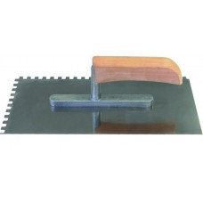 Кельма из нержавеющей стали, зуб 4х4 130х270 мм PQtools, 1401004