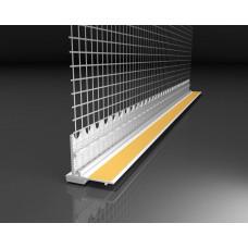 Профиль примыкающий оконный ПВХ БауТекс с армирующей сеткой 9 мм (2.4 м)