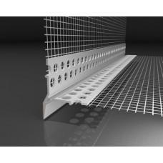 Профиль-Капельник угловой ПВХ профиль с армирующей сеткой 12,5х12,5 см (2.5 м)