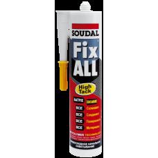 Клей-герметик SOUDAL Fix All High Tack эластичный гибридный белый до 45кг/см2 (290мл)
