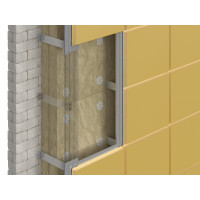 Утеплитель фасадный DoorHan ВЕНТ Оптима (1200х600х100мм) (0,288м3)