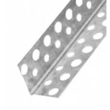 Уголок перфорированный алюминиевый 21х21 мм (3м)