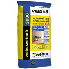 Отделочный ровнитель для пола Ветонит 3000 (Vetonit) самовыравнивающийся (20кг) 0-10 мм